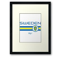 Euro 2016 Football - Sweden (Home Yellow) Framed Print