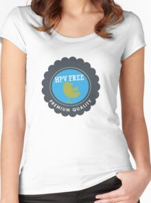 HPV Free Women's Fitted Scoop T-Shirt