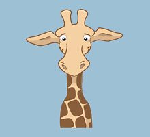 Quizzical Giraffe Womens Fitted T-Shirt
