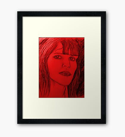 Vampire Love  Framed Print