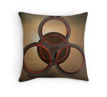 Four Ring Decay Throw Pillow