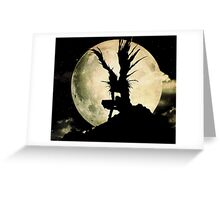 Death Note Moon Greeting Card