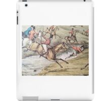 Old Hunting Scene - Jumping Through the English Countryside iPad Case/Skin