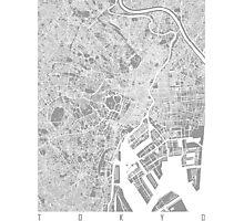 Tokyo map grey Photographic Print