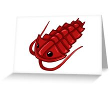Red Trilobite Greeting Card