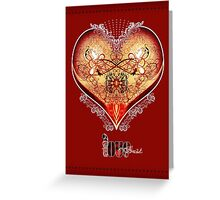LOVE HEART - Red (Card) Greeting Card