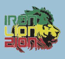 Reggae Rasta Iron, Lion, Zion Kids Tee