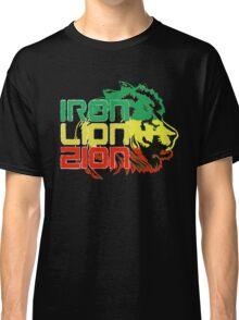 Reggae Rasta Iron, Lion, Zion Classic T-Shirt