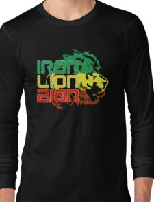 Reggae Rasta Iron, Lion, Zion Long Sleeve T-Shirt