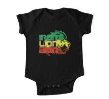 Reggae Rasta Iron, Lion, Zion One Piece - Short Sleeve