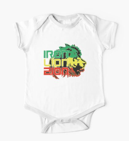 Reggae Rasta Iron, Lion, Zion One Piece - Short Sleeve