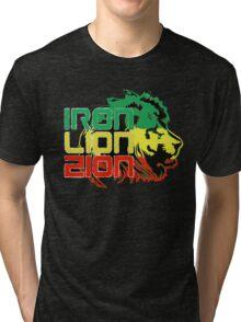 Reggae Rasta Iron, Lion, Zion Tri-blend T-Shirt