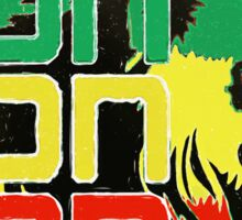 Reggae Rasta Iron, Lion, Zion Sticker
