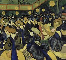 Vincent van Gogh - The Dance Hall in Arles by VanGoghMuseum