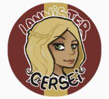 Chibi Cersei Lannister - Round Sticker 01 by BlackLemonJuice