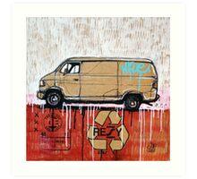 Graffiti Van Art Print