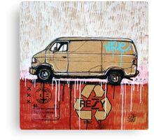 Graffiti Van Canvas Print