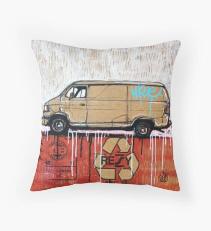 Graffiti Van Throw Pillow