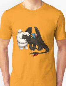Baymax Toothless and Stich T-Shirt