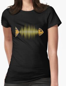 Music Fish Pulse Rate Frequency Dance House Techno Wave Womens Fitted T-Shirt