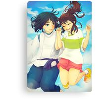 Chihiro and Haku - Spirited Away Canvas Print