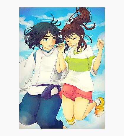 Chihiro and Haku - Spirited Away Photographic Print