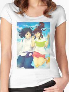 Chihiro and Haku - Spirited Away Women's Fitted Scoop T-Shirt
