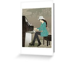 Piano Player Greeting Card