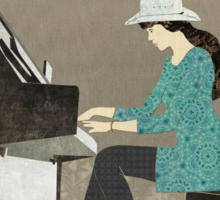 Piano Player Sticker