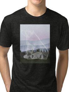 Geometric Nature - Bear (Full) Tri-blend T-Shirt