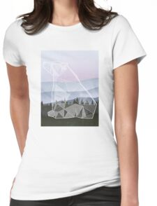 Geometric Nature - Bear (Full) Womens Fitted T-Shirt