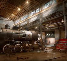 Locomotive - Locomotive repair shop by Mike  Savad