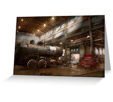 Locomotive - Locomotive repair shop Greeting Card