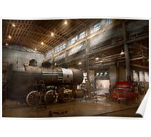 Locomotive - Locomotive repair shop Poster