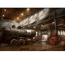 Locomotive - Locomotive repair shop Photographic Print