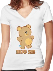 HUG ME! Women's Fitted V-Neck T-Shirt