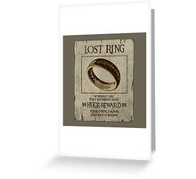 Lost Ring Greeting Card