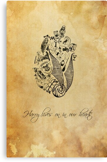 Harry Potter lives on in our hearts by EF Fandom Design