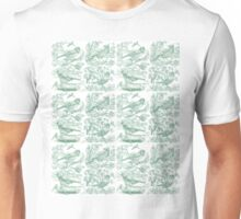 Garden Birds - Pale Green Unisex T-Shirt