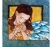 Angel with bird Photographic Print