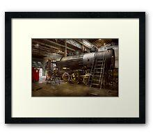 Locomotive - Repairing history Framed Print