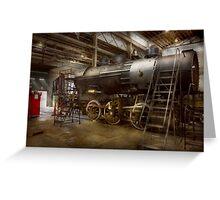 Locomotive - Repairing history Greeting Card