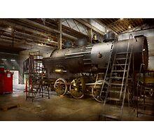 Locomotive - Repairing history Photographic Print