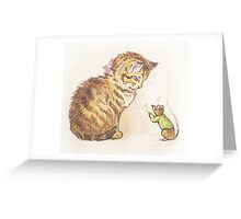Beatrix Potter Cat and Mouse Greeting Card
