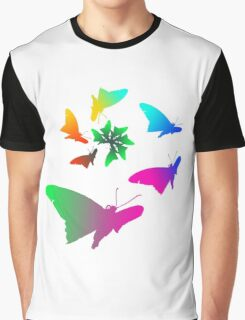 rainbown butterfly  Graphic T-Shirt