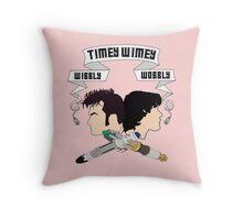 Timey Wimey Pink Throw Pillow Throw Pillow