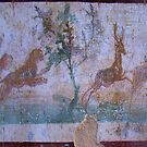 A Frescoe In Ancient Pompeii by Al Bourassa