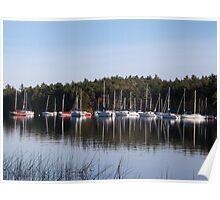 Sailboats on Lake Massabesic  Poster