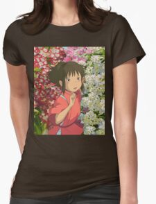 Running through the Flowers - Spirited Away Womens Fitted T-Shirt