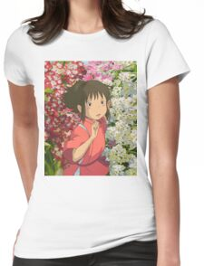 Running through the Flowers - Spirited Away Womens Fitted T-Shirt
